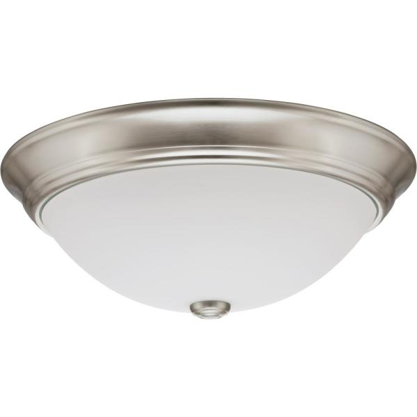 Lithonia Lighting 1 Light Nickel Fluorescent Round Ceiling Light 11983 Bnp The Home Depot