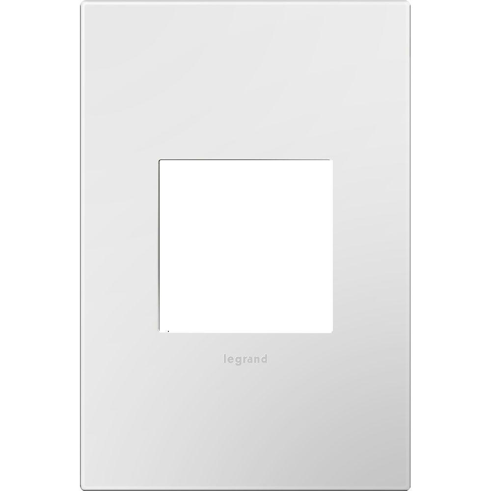 1-Gang 2 Module Wall Plate, Gloss White