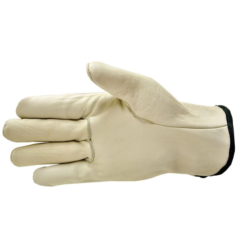 G & F Products Premium Genuine Grain Cowhide Large Leather Gloves (3-Pair)