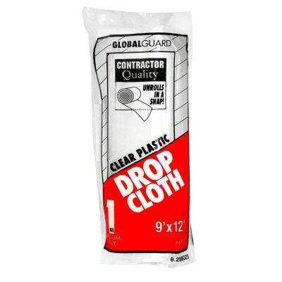 9 ft. x 12 ft. 1 mil. Rolled Plastic Drop Cloth (24-Pack)