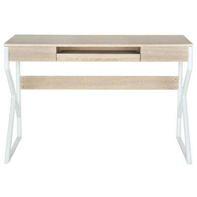 Bryant Natural Desk with Keyboard Tray