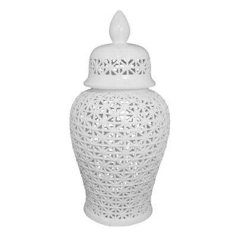 34 in. Ceramic Temple Jar