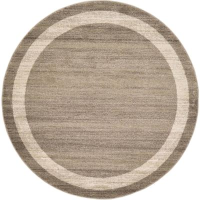 Del Mar Maria Light Brown 6' 0 x 6' 0 Round Rug