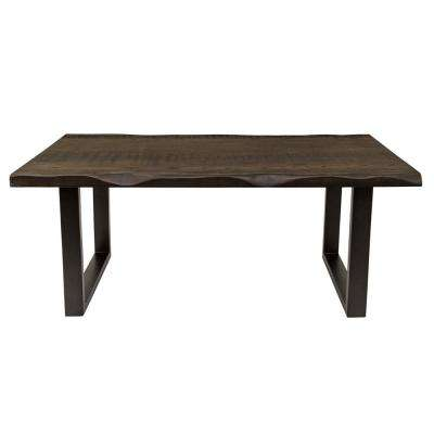 Regent Faux Live Edge Dark Brown Coffee Table