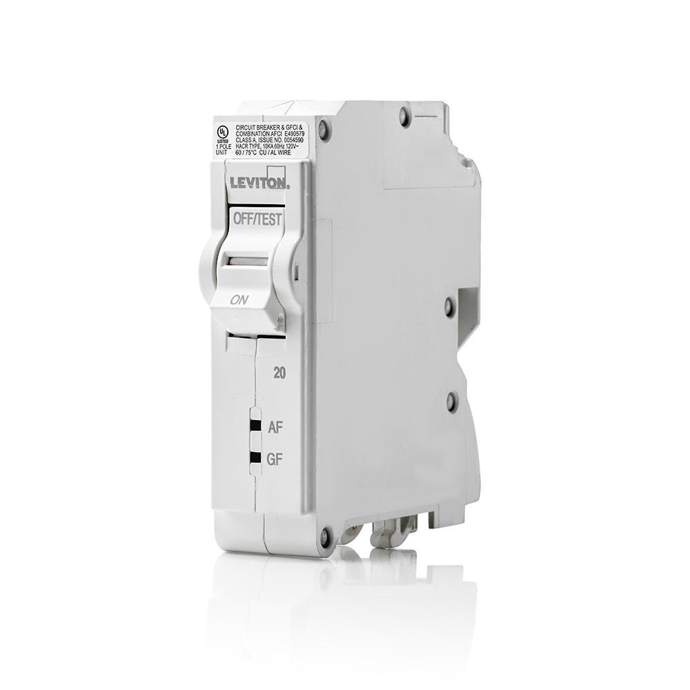 Leviton 20 Amp 1-pole 120vac Plug-on Afci  Gfci Branch Circuit Breaker-lb120-df