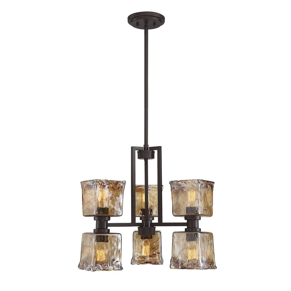 Home Decorators Collection Newbury Manor Collection 6 Light Vintage Bronze Chandelier With Clear