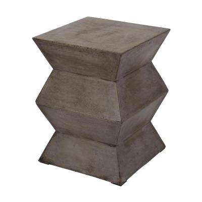 Cubo 18 in. Gray Fold Concrete Stool