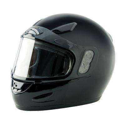 2X-Large Adult Black Full Face Snow Helmet