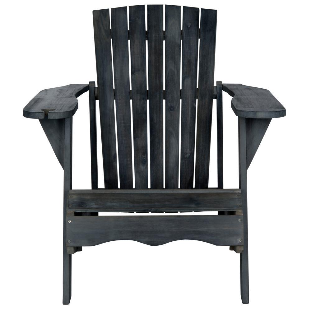 Pleasant Safavieh Vista Dark Slate Gray Wood Adirondack Chair Gamerscity Chair Design For Home Gamerscityorg