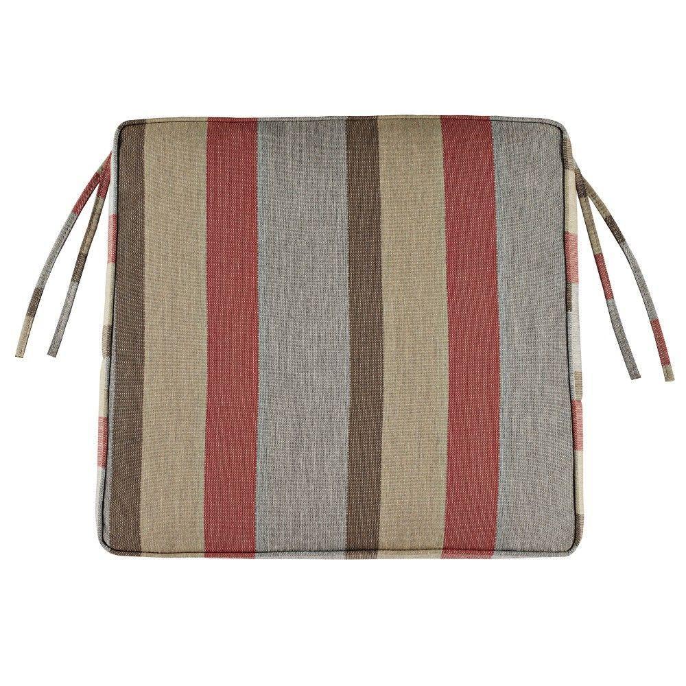 Sunbrella Gateway Blush Outdoor Seat Cushion