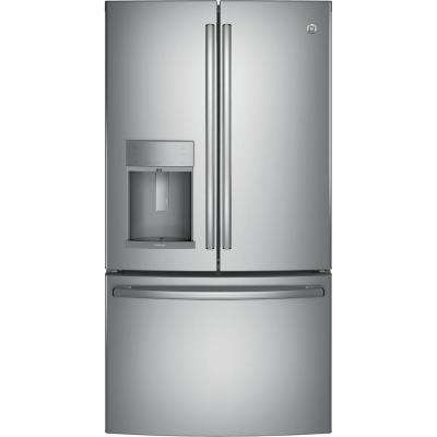 Adora 36 in. W 27.7 cu. ft. French Door Refrigerator in Stainless Steel with Hands Free Autofill