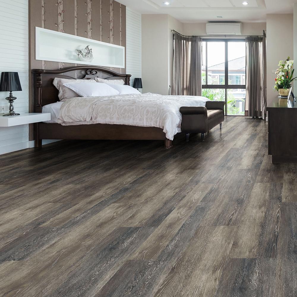 Dark Grey Oak Luxury Vinyl Flooring