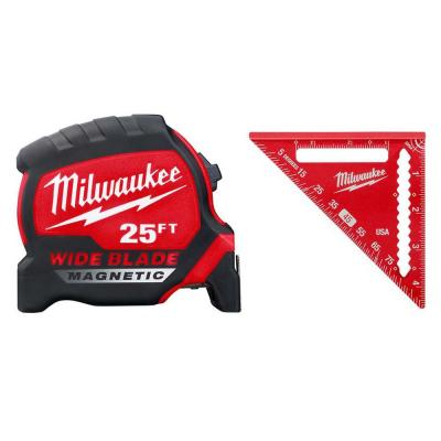 25 ft. x 1.3 in. W Blade Magnetic Tape Measure with 14 ft. Standout and 4-1/2 in. Trim Square