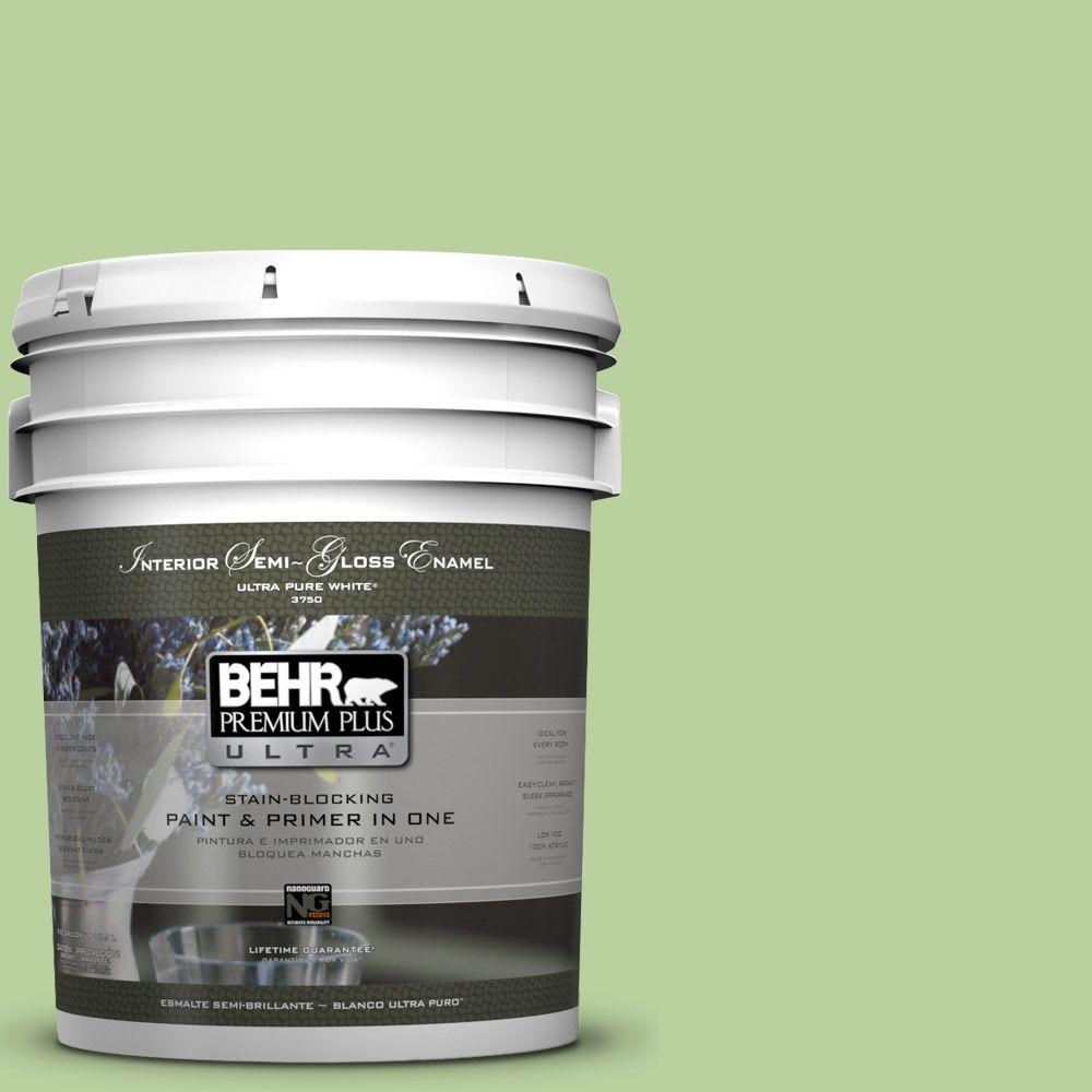 BEHR Premium Plus Ultra 5-gal. #P380-4 Four Leaf Clover Semi-Gloss Enamel Interior Paint