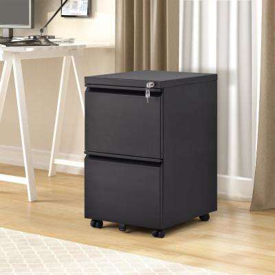 Black Stable File Cabinet Fully Assembled Except Wheels