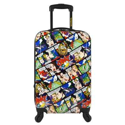 Crak 22 in. Expandable Carry-On Spinner Luggage, White