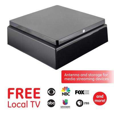 Pro Conceal HD TV Antenna with Discreet Flat Top Design to Store Streaming  Devices with 30-Mile Range