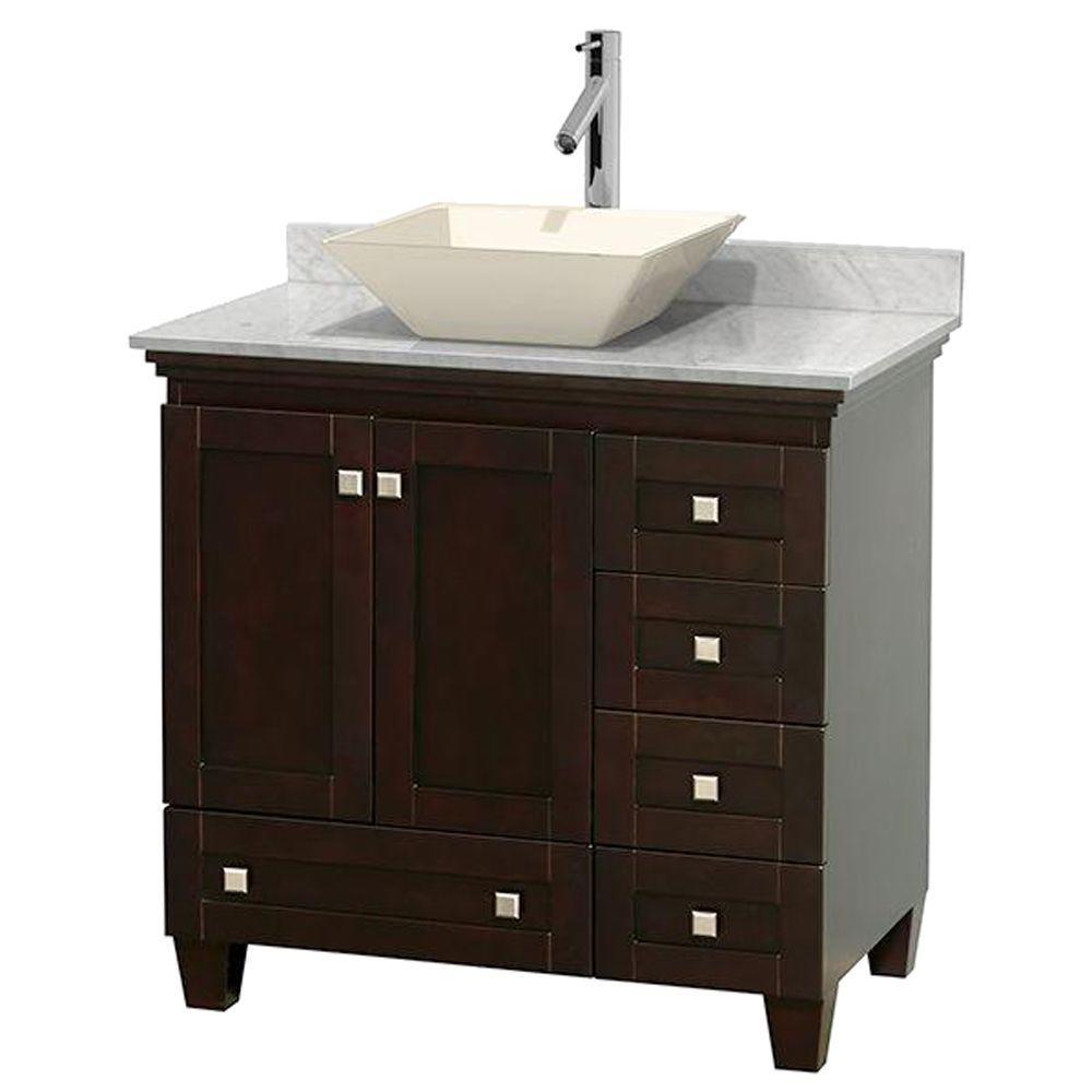 Vanity Marble Vanity Top White Bone Sink