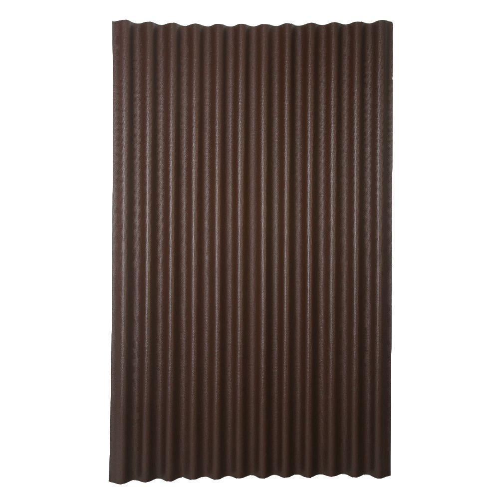 Ondura 6 ft. 7 in. x 4 ft. Asphalt Corrugated Roof Panel in Brown