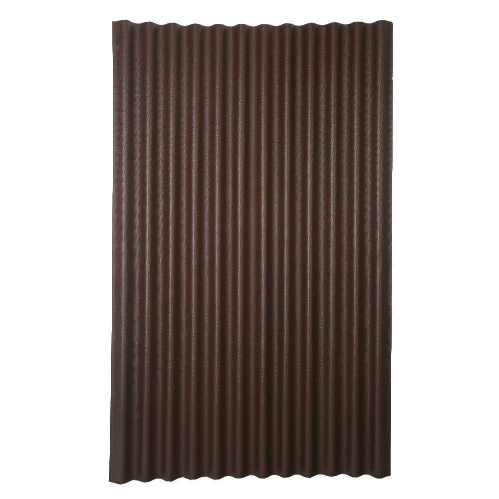 6 ft. 7 in. x 4 ft. Asphalt Corrugated Roof Panel in Brown
