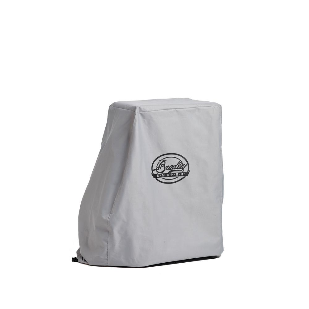 Bradley Smoker 4-Rack Smoker Cover, Black The Bradley Smoker Bradley 4-Rack Smoker Cover features an all-weather water-resistant design that helps protect your smoker from the elements, letting you use it in a variety of climate conditions. Color: Black.
