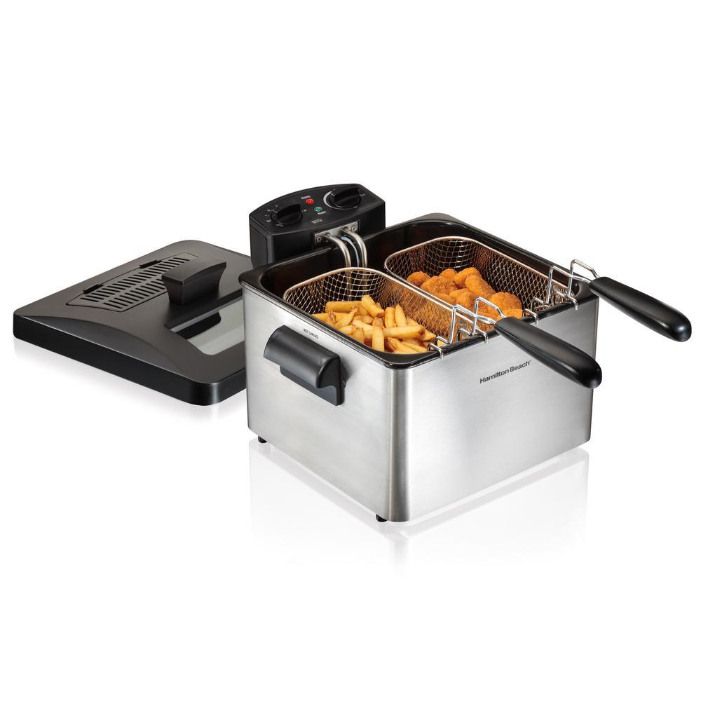 Hamilton Beach-Professional-Style 3-Basket Deep Fryer