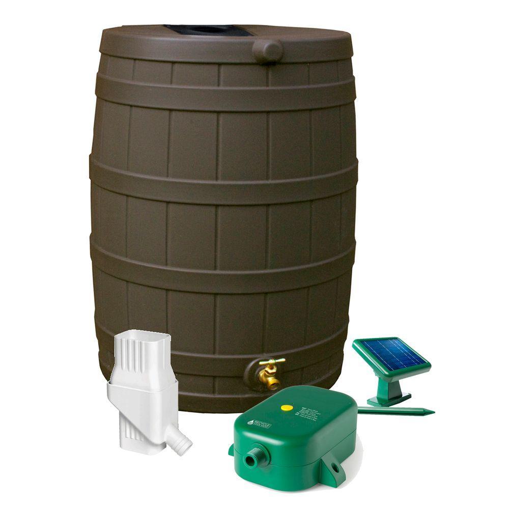 Rain Wizard 50 gal. Oak 31 in. Eco Kit