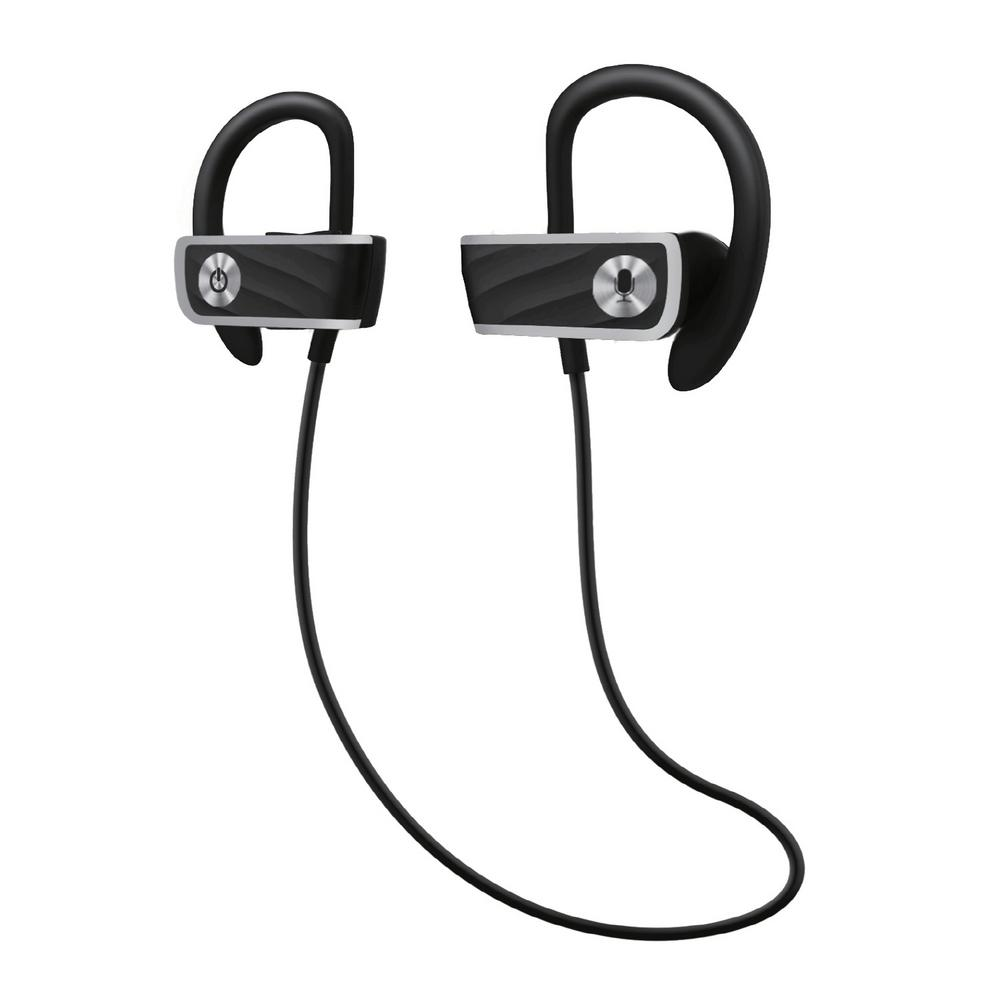 Audiolux Voice Enabled Wireless Sports Earbuds With Bluetooth Va Wse 6 1156 The Home Depot
