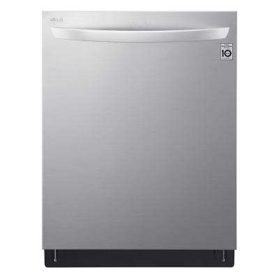 24 in. Top Control Built-In Smart Dishwasher in Stainless Steel with QuadWash, TrueSteam, 3rd Rack, 42 dBA