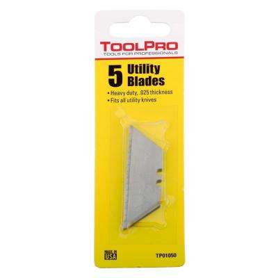 Drywall Utility Knife Blades (5-Pack)