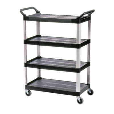 51 in. x 40.6 in. x 20 in. 4-Shelf Utility Cart in Black