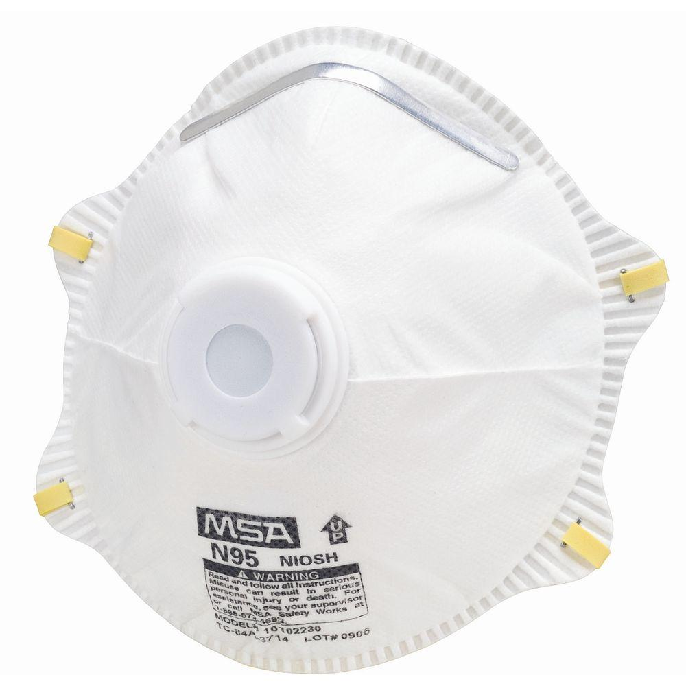 MSA Safety Works N95 Dust Respirator with Valve (10-Pack)