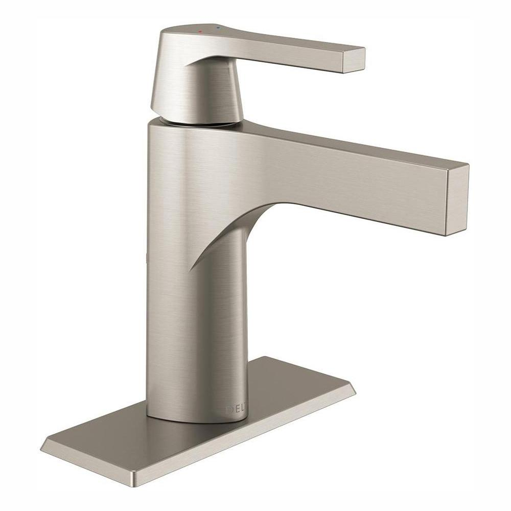 Delta Zura Single Hole Single Handle Bathroom Faucet In