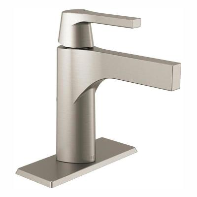 Zura Single Hole Single-Handle Bathroom Faucet in Stainless