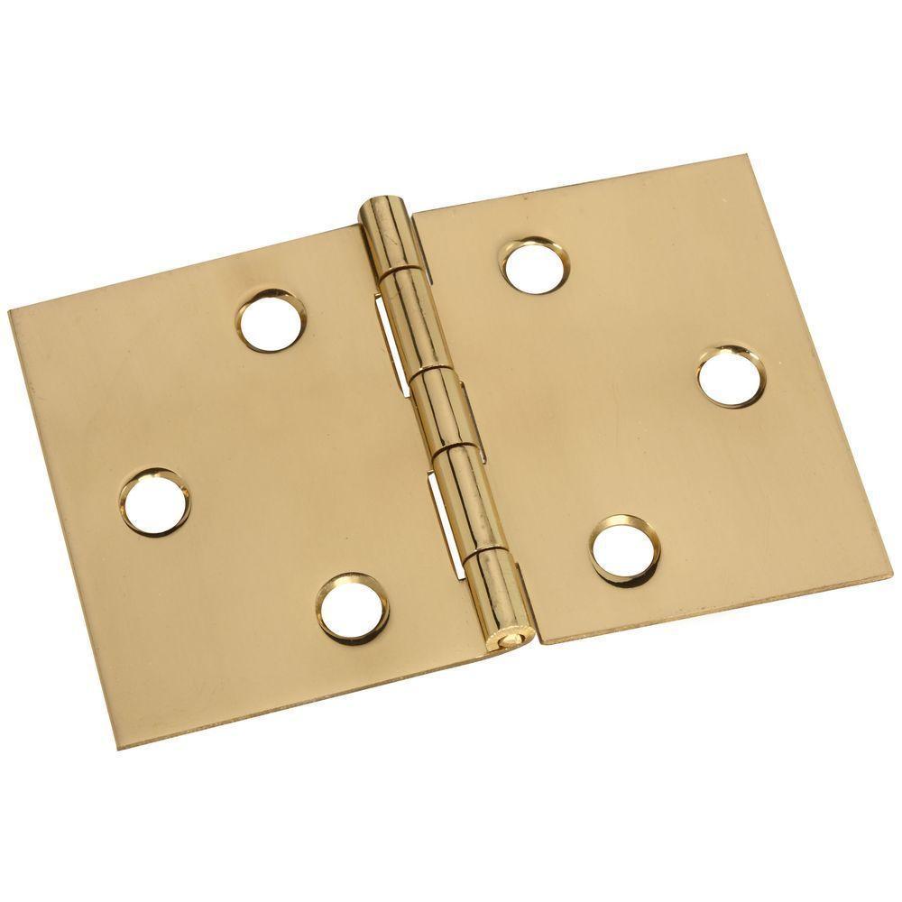 2 in. Solid Brass Desk Hinge
