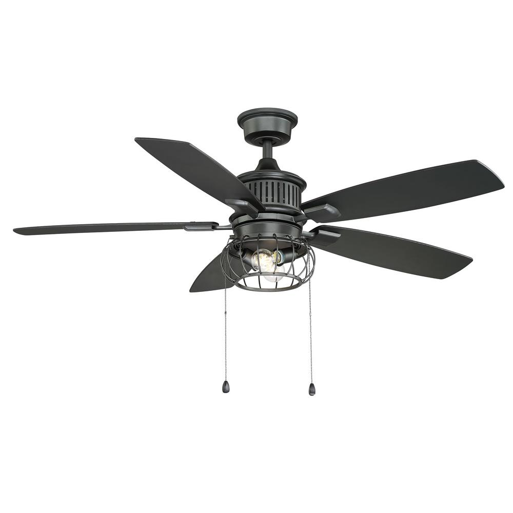 HomeDecoratorsCollection Home Decorators Collection Aldenshire 52 in. LED Indoor/Outdoor Natural Iron Ceiling Fan with Light Kit
