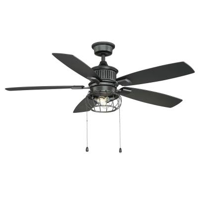 Aldenshire 52 in. LED Indoor/Outdoor Natural Iron Ceiling Fan with Light Kit