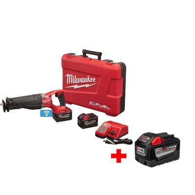 M18 FUEL 18-Volt Cordless Lithium-Ion Brushless Sawzall with One-Key Heavy Duty 9.0Ah Kit with Free 9.0Ah Battery