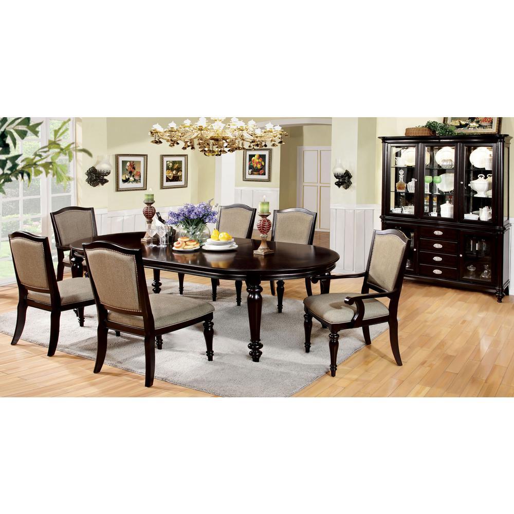 Harrington Dark Walnut Transitional Style Dining Table