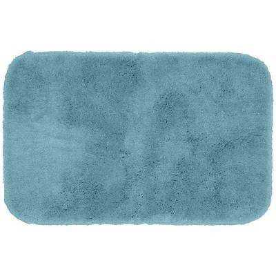 Finest Luxury Basin Blue 24 in. x 40 in. Washable Bathroom Accent Rug