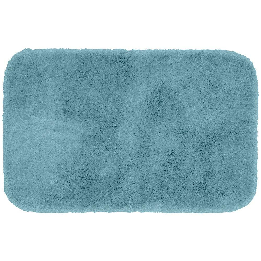 Garland Rug Finest Luxury Basin Blue 24 In. X 40 In. Washable Bathroom Accent Rug-PRE-2440-13