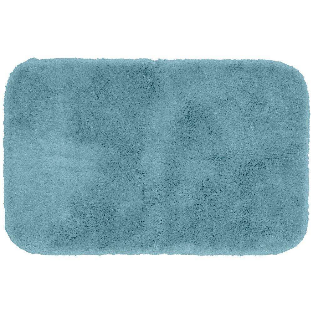 Finest Luxury Basin Blue 24 in. x 40 in. Washable Bathroom