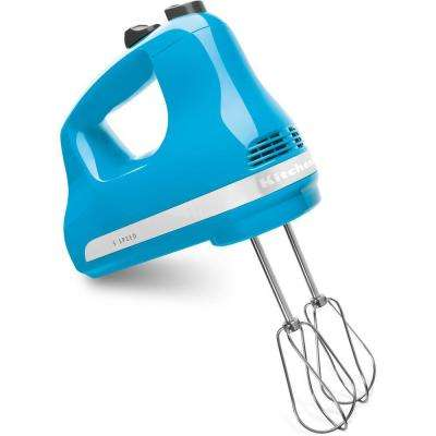 Ultra Power 5-Speed Crystal Blue Hand Mixer