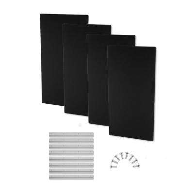 24 in. W x 48 in. L x 1.6 in. H  Black Fabric, Absorption Plus Diffusion Panels - Big Panel Booster Kit (Pack of 4)