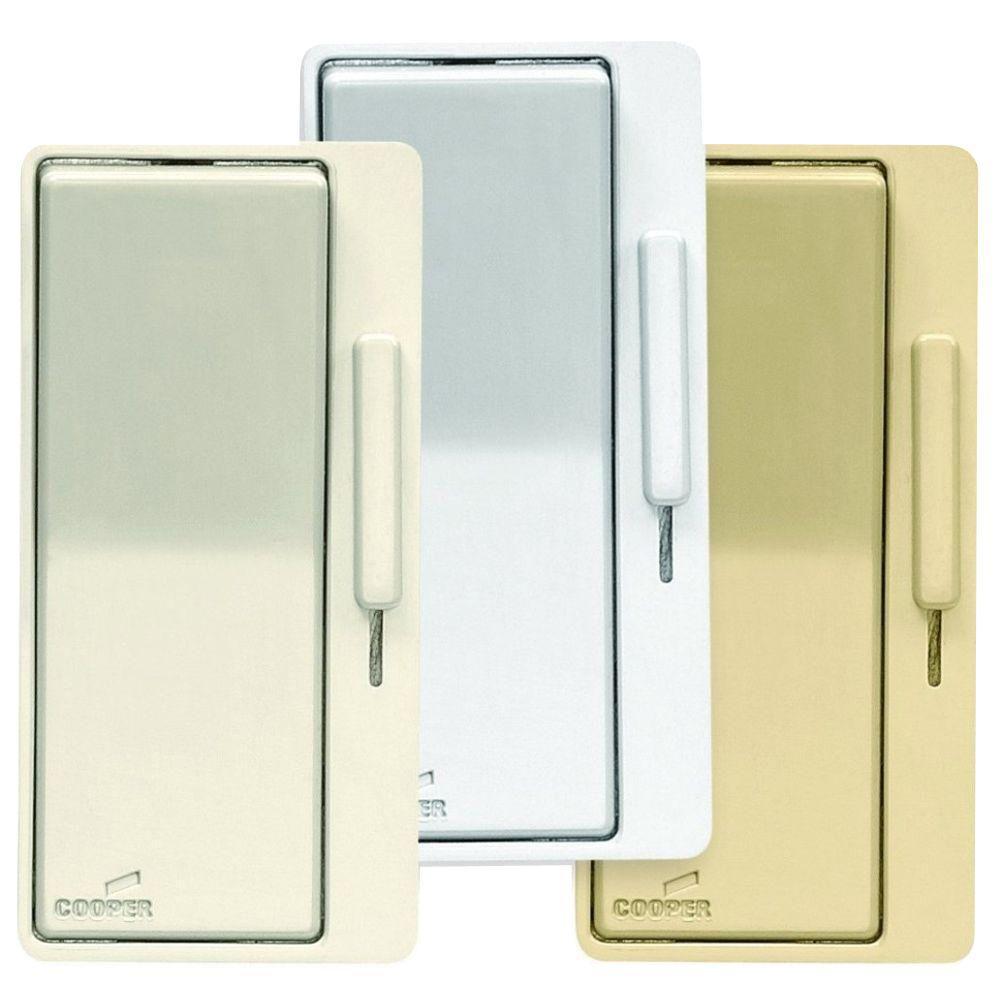 EATON Eaton Devine AL Series Dimmer Color Change Faceplate Kit, Light Almond/White/Ivory