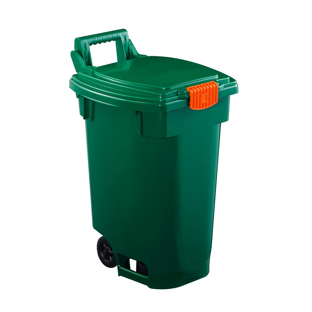Orbis 12 Gal. Green Indoor Recycling Bin Wheeled Cart-NPL