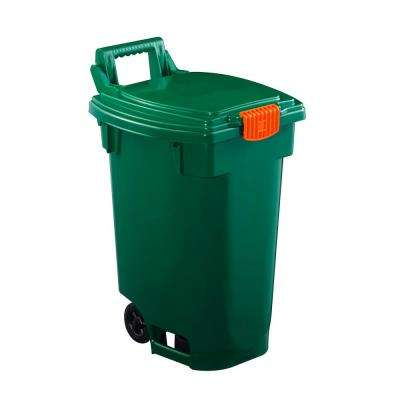 12 Gal. Green Indoor Recycling Bin Wheeled Cart