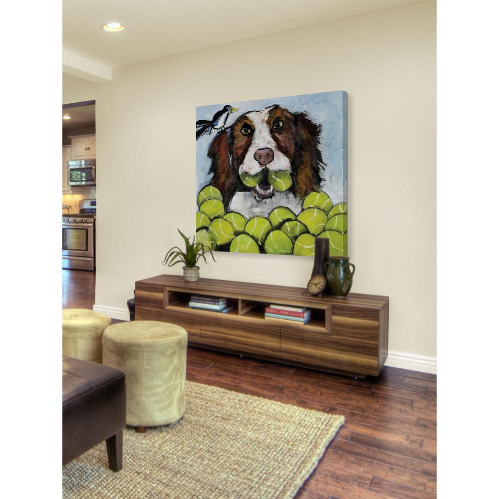"24 in. H x 24 in. W ""Tara Likes Tennis"" by Tori Campisi Printed Canvas Wall Art"
