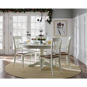 Awesome Homestyles Rubbed White Wood Double X Back Dining Chair Set Ibusinesslaw Wood Chair Design Ideas Ibusinesslaworg