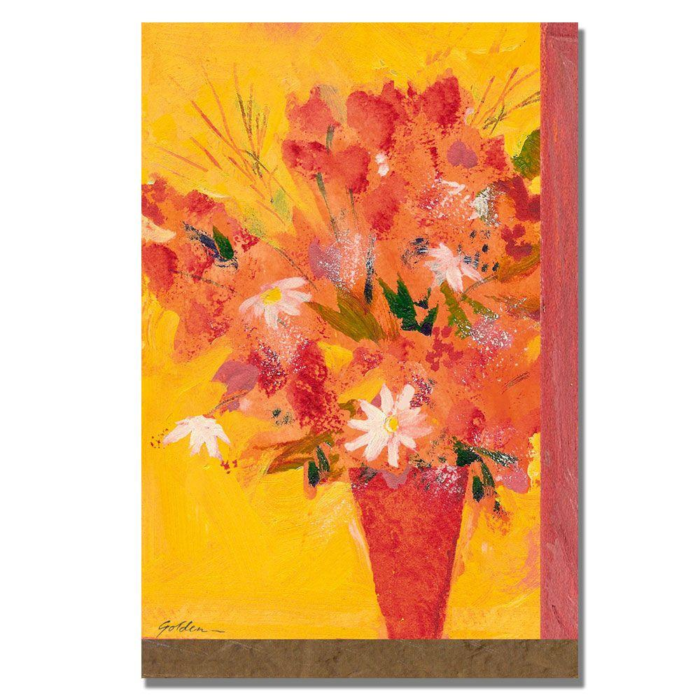 24 in. x 32 in. Bouquet with Yellow II Canvas Art